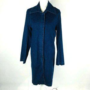 British Khaki Womans Long Sleeve Jean Denim Dress